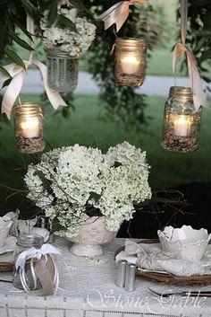 Mason jar hanging lanterns