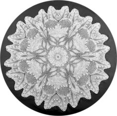 """(""""Peony"""") Small Round Tablecloth In Knitted Lace By Herbert Niebling Cloth In Photo Knitted By Shari Morrow PDF Content: English language instruction text, pattern in both charted and written form...."""