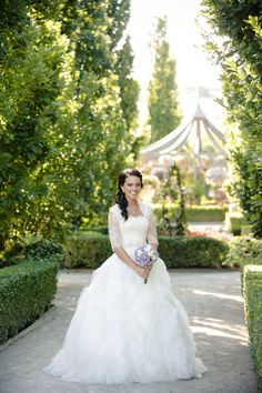 Modest Wedding Dress | Lace Sleeves | Ball Gown | Queen Anne Neckline | Simply Elegant | Fort Mill SC | simplyelegantforyou.com