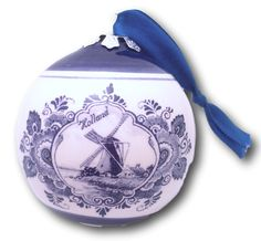 Delft Blue Christmas Ornament $8.95 7cm x 8cm