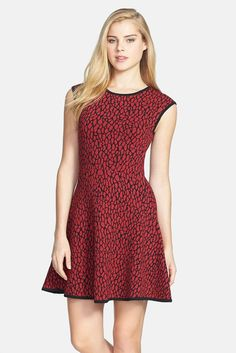 6a761e92f1c38 Felicity and Coco FELICITY COCO Jacquard Fit Flare Dress (Nordstrom  Exclusive) Is on sale