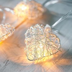 10 Warm White LED Metal Mesh Heart Battery Fairy Lights These gorgeous heart-shaped fairy lights are Wire Mesh, Metal Mesh, Solar Fairy Lights, Light In, Pretty Lights, Valentines Day Decorations, White Lead, Heart Shapes