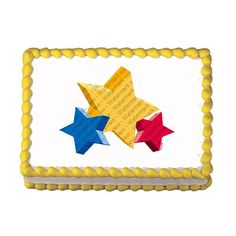 Stars EDIBLE Image Cake Cupcake Topper by CakesPopsCupcakes, $7.95