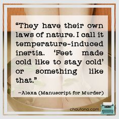 Manuscript for Murder: I suffer from the same thing. So annoying. Cozy Mysteries