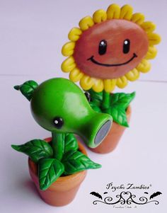 Peashooter ornaments from Plants vs. Zombies