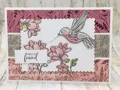 Bird Cards, Butterfly Cards, Butterfly Flowers, Flower Cards, Craft Desk, Card Making Tutorials, Ink Stamps, Stamping Up Cards, Diy Home Crafts