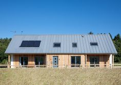 JAMstudio is an award winning RIAS chartered architectural practice based in the north east of Scotland Roof Design, Exterior Design, House Design, New Home Designs, Home Design Plans, Zinc Roof, Bungalow Extensions, Self Build Houses, House Roof