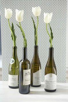 idée récup déco bouteille verre recyclage bricolage vase diy