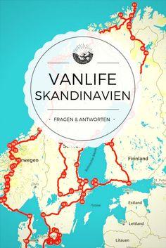 Im Van durch Skandinavien – Fragen & Antworten zu meiner Reise durch Schweden, Finnland und Norwegen im Van / Wohnmobil. Die Reise durch Skandinavien war der Auftakt in mein Leben im Van. Nach über drei Monaten im Van, in denen ich durch Schweden, Finnland und Norwegen gereist bin, kann ich eins sagen: es war die beste Idee ever, in den Van umzuziehen!