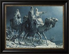 Following the Star - Arnold Friberg - Framed Textured Lithograph *** Details can be found by clicking on the image. (This is an affiliate link) #EasyHomeDecor