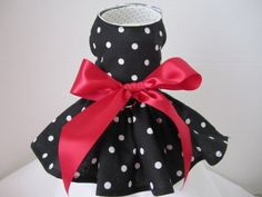 Dog Dress  Teacup  Black with White by NinasCoutureCloset on Etsy, $15.00
