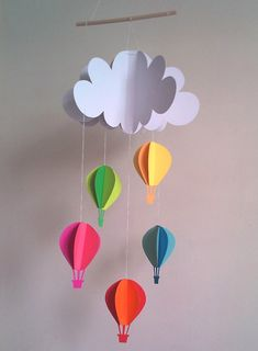 Hot air balloon nursery mobile on Etsy, $15.95 AUD