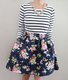floral skirt spring outfit 22 - 41 spring outfits with floral skirts