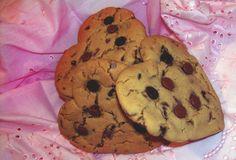 Heart Chocolate Chip Cookies