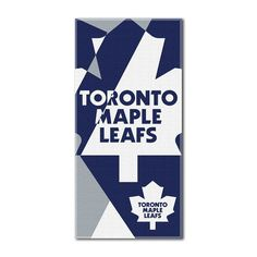 Toronto Maple Leafs Puzzle Oversize Beach Towel by Northwest, Multicolor