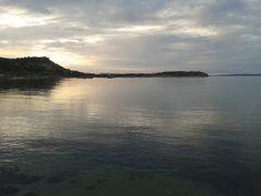 La Maddalena .  Tramonto Isolano visto dalla spiaggia di Monte della Rena.