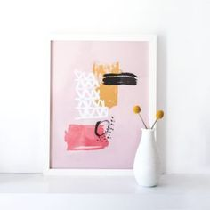 Abstract Painted Art Print -From pieces inspired by typography and inspirational quotes to personalised posters that capture your life and loves, we've got lots of unique and original ideas for the perfect gallery wall. Discover our collection of prints and art for the home now.