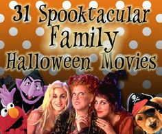 Put some BOO in your movie night with these 31 Spooktacular Family Halloween Movies! | SavingByDesign.com