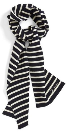 For fall: Fishermans stripe wool scarf
