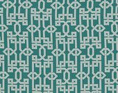 Geometric Turquoise Fabric - Modern Turquoise Upholstery Fabric - Upholstery Fabric by the Yard