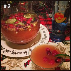 #2 Pinnacle® Champagne Punch!  2 1/2 cups Pinnacle® Peach Vodka + 2 Cups Cranberry juice 1 750ml bottle of champagne. Mix together in a pitcher with ice, limes and cranberries. Serves 12-15.