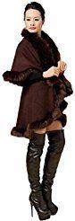 Christmas deals week CoatMorecome Women's Faux Fur Collar Cape Stole Wrap Hoody Sweater