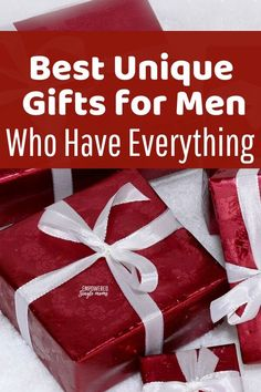 Are you looking for a Christmas or birthday gift for men who have everything? Whether it's your father, brother, or boyfriend unique gifts for men are hard to find. The men in my life helped me out so you can find just the right gift for the men in your life. #Christmas #giftideas #menwhohaveeverything #birthdaygifts , #Christmas gifts