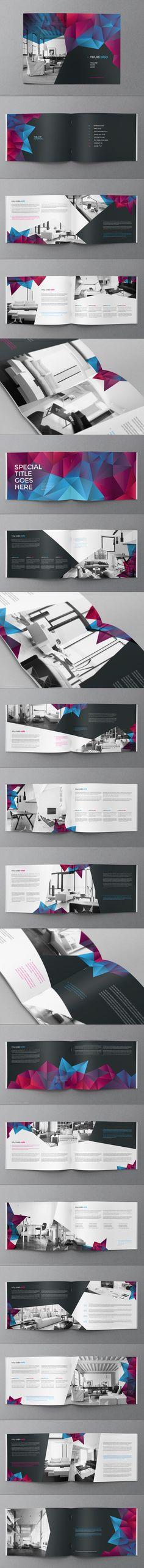 Cool Modern Brochure by Abra Design, via Behance