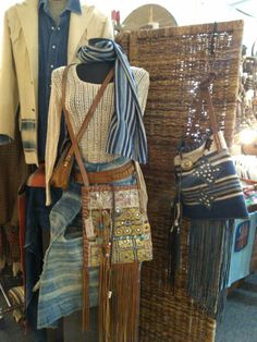 Ooo So Santa Fe At the Flea Navajo Handbags made from blankets / rugs, vintage horse tack, and deer, elk or cowhide leathers. I embellish the bags with vintage trade beads, turquoise, coral, nickel silver/German silver Concho buttons, nickel silver spots/studs, and deer antler tips.