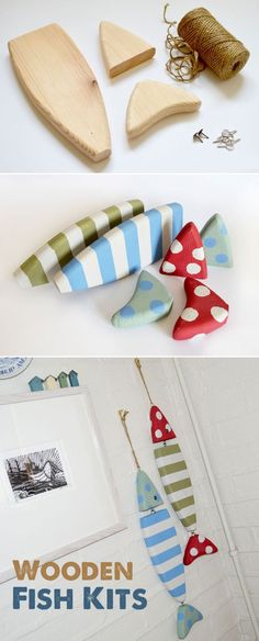 Wooden Fish! Would be cool with clay too! #crafts #CraftyCravings