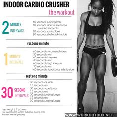 Indoor Cardio Crusher The Workout - Healthy Fitness Training 123