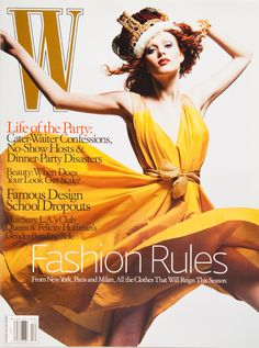 The 25 Best W Magazine Supermodel Covers - Karen Elson on the cover of W Magazine December 2005-Wmag