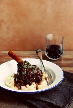 Braised Lamb Shanks in Port and Red Wine