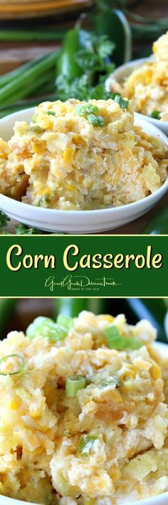 Corn Casserole with jalapeños and onions. Plus cheese and breading. Oh yes!!