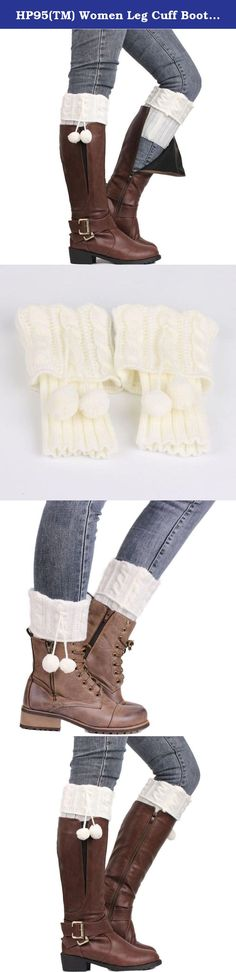 "HP95(TM) Women Leg Cuff Boots Crochet Knitted Stocking Leg Plush Cover Warmer (White). Description Material:Acrylic fibres Color:Beige,Black,Gray,Khaki ,White Length:26cm/10.2""(The manual measurement may be a little error) For Adult wear Soft and comfortable Package:1Pair socks Our leg warmers are any boot's best friend. We love them with rain or ankle-length boots. You can Pair them with tights, leggings, skirts, skinny jeans for a sweet cozy look. Care: Hand wash cold and lay flat to…"