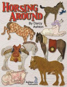 Paardje rond--stoffen boek quilten