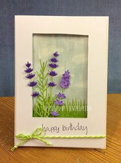 Blumenkollage  - Stanzen / dies: Rayher 59981000 Stempel / stamps: Paper Artsy JOFY14 Stempelkissen / stamp pad: Stampin Up elegant eggplant Gesso Adirondack Acrylic Paint cloudy blue, purple twilight, lettuce, cool peri