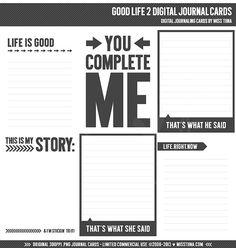 Bonne vie 2 Digital Journal cartes  vie 3 x 4 projet par MissTiina