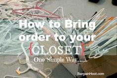 #Closet organization Tips on #How to organize your closet.