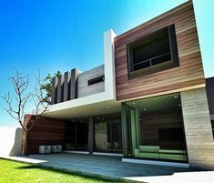 LO House by . Modern Architecture House, Residential Architecture, Amazing Architecture, Architecture Design, Duplex Design, Modern House Design, Ultra Modern Homes, Modern Properties, House Elevation
