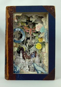 storybook scenes carved out of an encyclopedia :: really incredible!