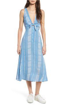 Main Image - Lush Tie Front Midi Dress