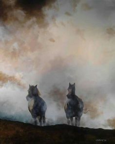 Konie #hours #painting #akrylic #bemolArt.