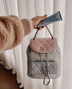 cutest chanel bag matching her own skincare brand, summer friday, via Luxury Bags, Luxury Handbags, Purses And Handbags, Chanel Handbags, Chanel Outfit, Chanel Chanel, Chanel Brand, Chanel Bag Classic, Chanel Backpack