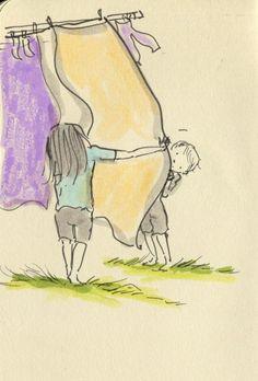 Hide and seek. Doodlemum | a day in the life of my sketchbook…