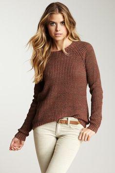 Tweed Raglan Crew Neck Sweater by Autumn Cashmere on @HauteLook
