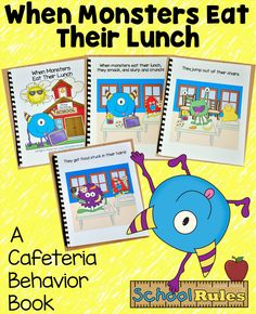 """Those silly monsters are at it again! Introduce and review cafeteria behavior expectations with this fun book. """"When Monsters Eat Their Lunch,"""" teaches students appropriate cafeteria behavior.  This free download will be available from June 15th to October 30th 2015."""