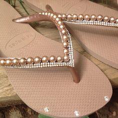 Havaianas Slim, Moma, Flip Flops, Ivory, Rose Gold, Summer Dresses, Sandals, Shoes, Fashion