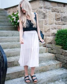 Pleats please!!! In love with this pastel skirt.