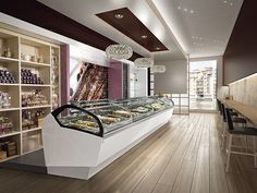 Refrigerated counter display case / ice cream / for pastry shops LUNETTE IFI